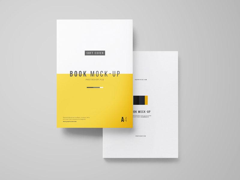 a4 book psd mockup mockupsq