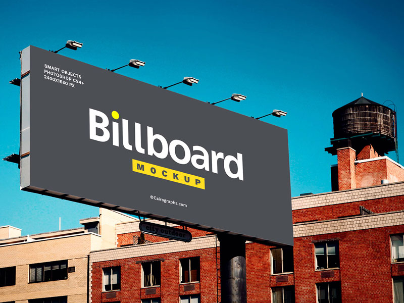 Billboard On Building Psd Mockup Mockupsq