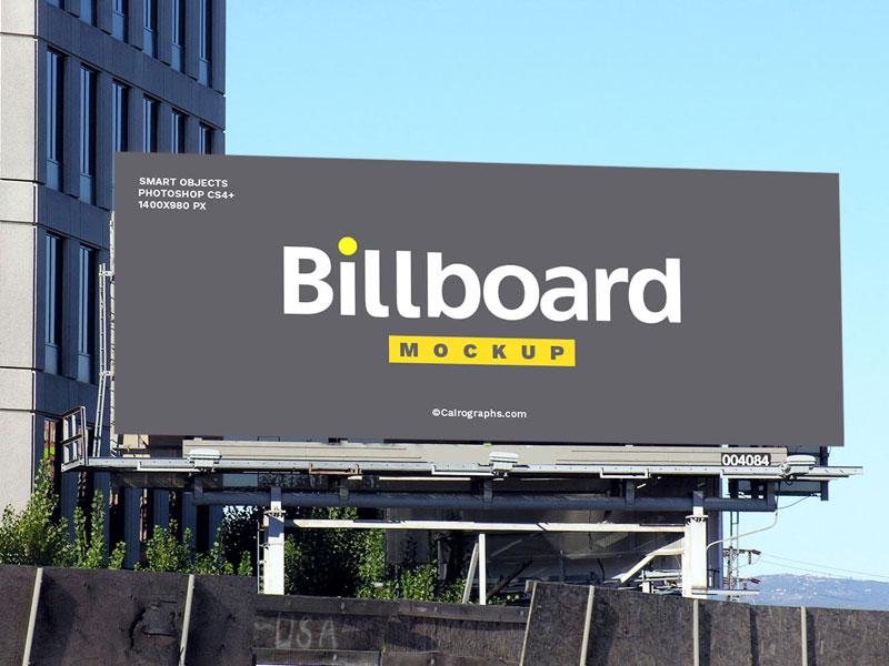Billboard On Building Psd Mockup Mockupsq