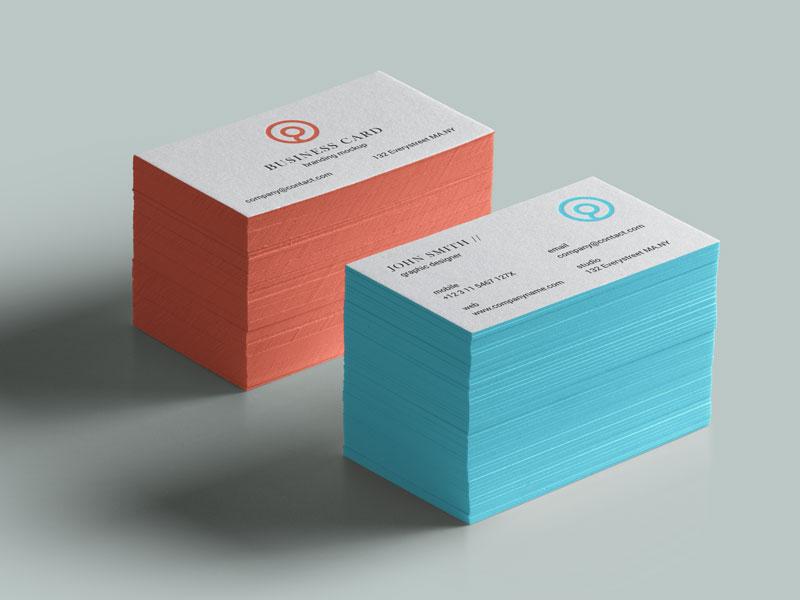 Business Cards PSD Mockup   MockupsQ