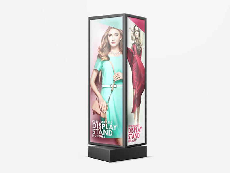 Exhibition Stand Psd Mockup : Stand display sign psd mockup mockupsq
