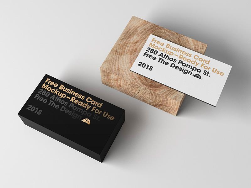 Business Card Front & Back PSD Mockup | MockupsQ