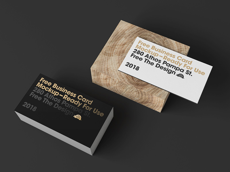 Business cards with wooden block psd mockup mockupsq business cards with wooden block psd mockup colourmoves