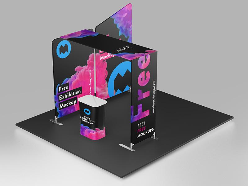Exhibition Stand Psd Mockup : Sign billboard mockupsq