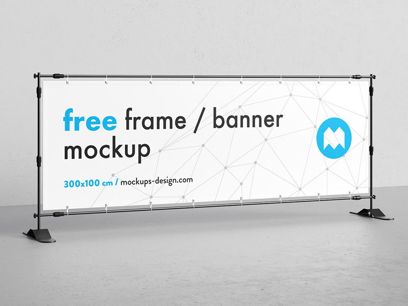 banner frame stand mockup psd mockup mockupsq