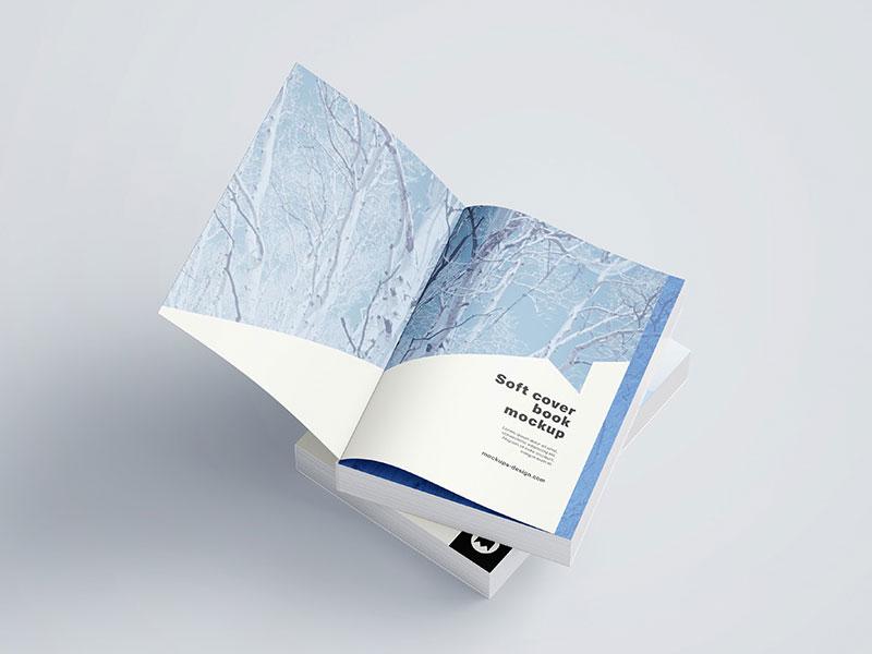 softcover book psd mockup mockupsq