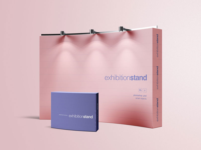 Simple Exhibition Stand Mockup : Exhibition stand v psd mockup mockupsq