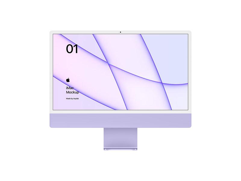 iMac 2021 PSD Mockup   MockupsQ